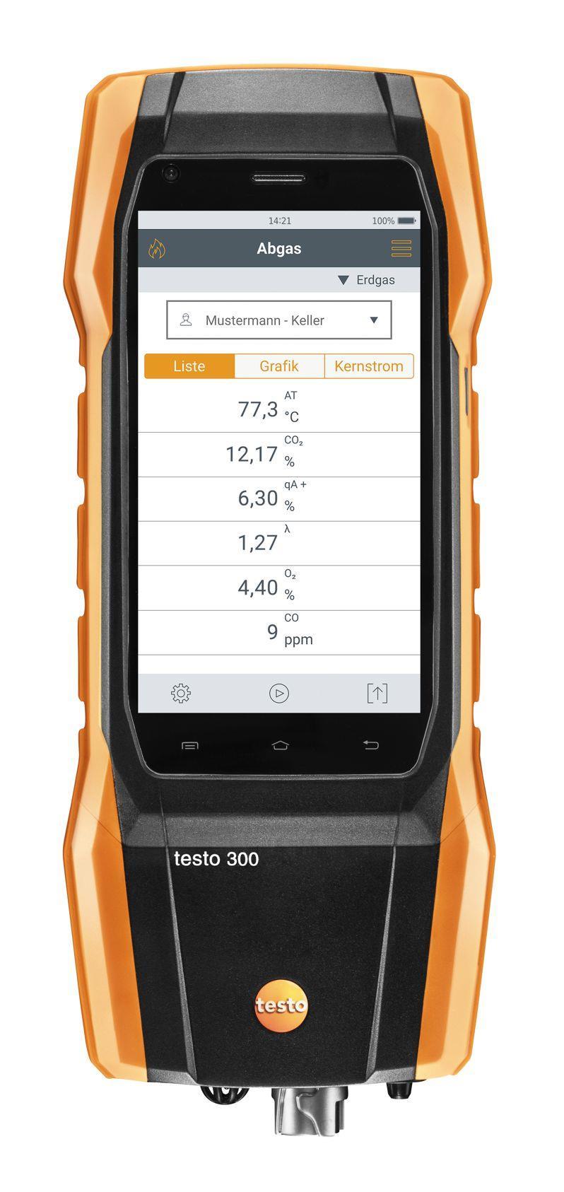Abgasmessgerät testo 300 Allrounder-Set (CO H²-Sensor 8.000 ppm)
