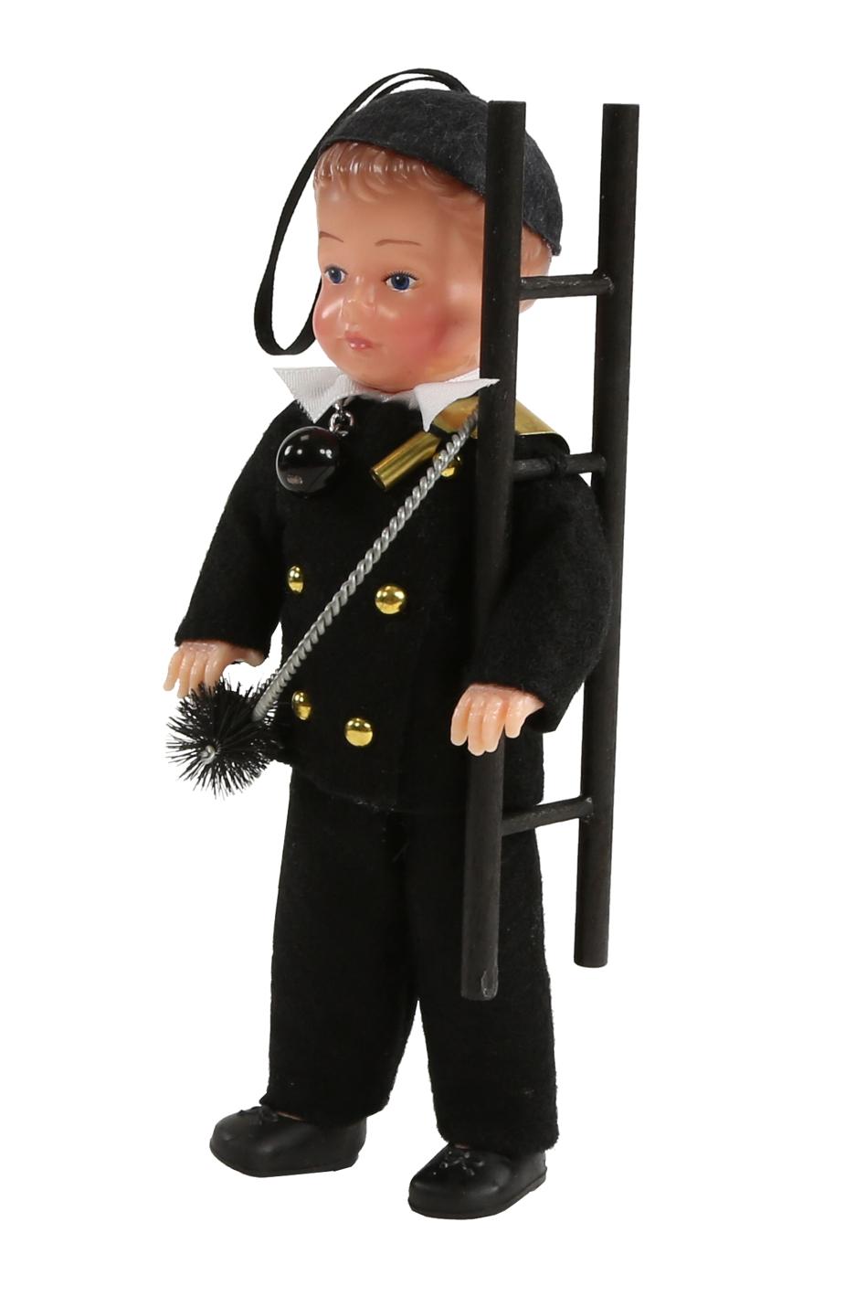 Schornsteinfeger-Puppe, 16 cm, mittel