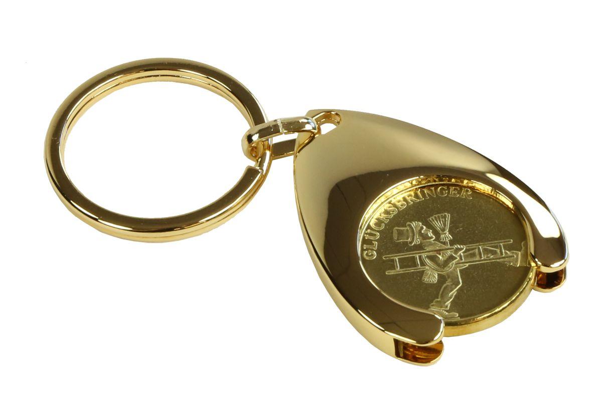 Schlüsselanhänger mit Glücksmedaille