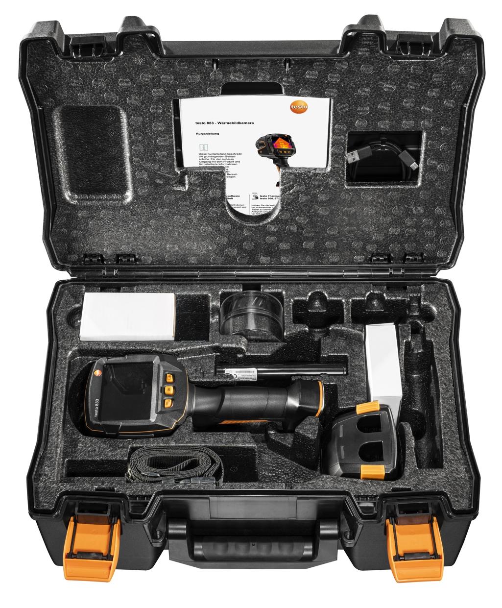 Wärmebildkamera testo 883 - Set mit Wechselobjektiv