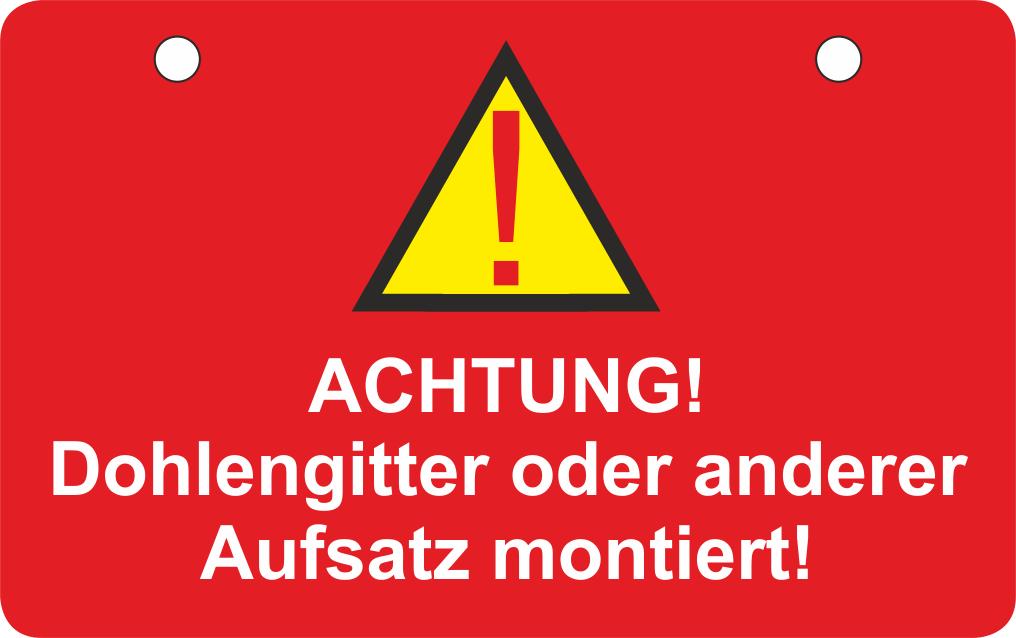 """Kunststoffschild """"Dohlengitter/Stromleitung"""" - 50 Stück"""
