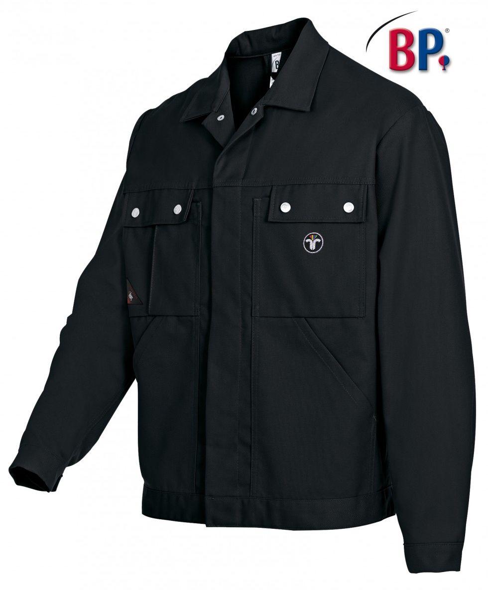 Messjacke - BP Cotton Plus, schwarz - mit ZIV-Emblem